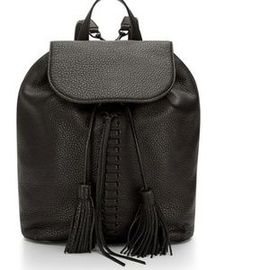 Rebecca Minkoff Black Moto Backpack Tassel Leather